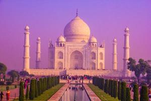 le taj mahal, est un marbre blanc ivoire dans la ville indienne d'agra photo
