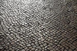 trottoir bordé de pierre photo