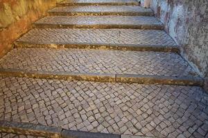 escalier en pierre de rue photo