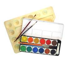 outils de peinture isolés photo