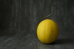 melon fruit doré bon pour la santé et savoureux photo