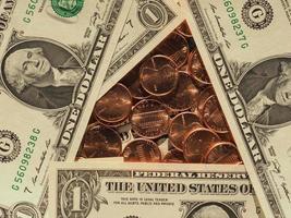 Billets et pièces en dollars, États-Unis photo