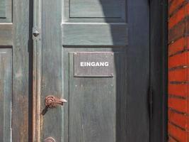 panneau d'entrée eingang photo