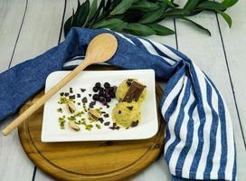 une glace italienne à la pistache photo