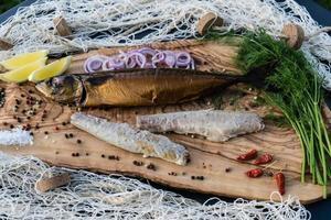 poisson fumé différents canapés photo