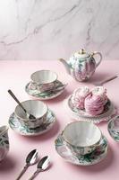 belle table de composition pour le thé photo