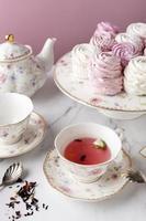 la composition élégante du thé photo