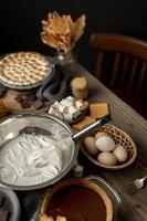 la délicieuse composition de dessert des mœurs photo