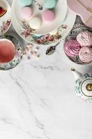 composition de thé avec espace de copie photo