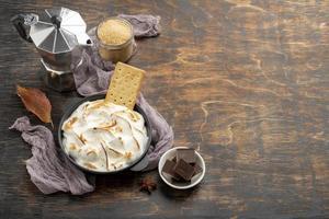 la savoureuse composition de dessert des mœurs photo
