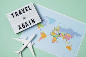 l'arrangement de concept de voyage à nouveau photo