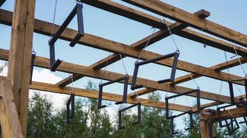 terrain de sport. portique d'escalade pour la compétition photo