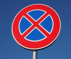 aucun signe de stationnement photo