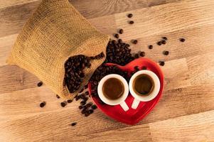 composition de café avec des grains photo