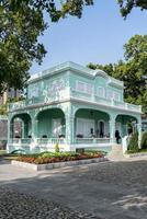 Ancienne attraction touristique de manoirs coloniaux portugais dans la région de Taipa de Macao Macao Chine photo