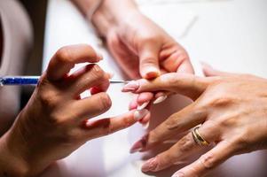 décorations d'ongles avec gel uv spécial photo