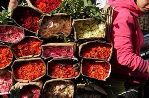 roses au marché de ho chi minh ville photo