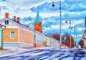 église en couleur photo