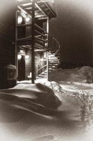 la nuit enneigée photo