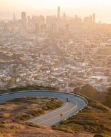 vue aérienne sur la ville de san francisco, californie, états-unis. photo