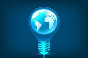 ampoule rougeoyante dans le concept d'idée, d'innovation et d'inspiration photo