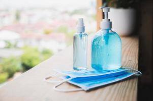 gel désinfectant pour les mains pour la prévention des coronavirus, photo