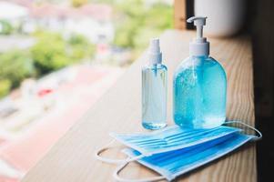 gel désinfectant pour les mains pour la prévention du coronavirus photo