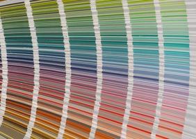système d'échantillons de couleurs photo