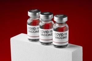 le covid nature morte avec vaccin photo