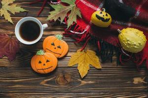 maman, chauve souris, citrouille, fantôme, biscuits chat noir pour halloween photo