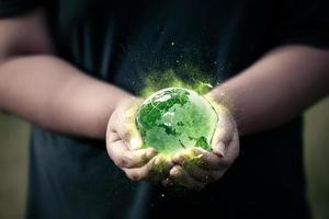 concept de sauver le monde photo