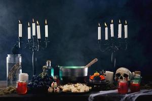 la composition alimentaire de la fête d'halloween photo