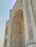 taj mahal agra inde mogul marbre mauso architecture détaillée. photo