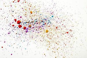 gouttes d'aquarelle de désordre coloré. résolution et haute qualité belle photo
