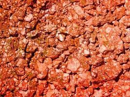 texture de la terre rouge photo