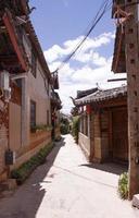 Ancienne ville de shuhe à lijiang, province du yunnan, chine photo