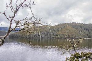 Lac dans le parc national de pudacuo à shangri la, province du yunnan, chine photo