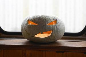 citrouille d'halloween rougeoyante photo