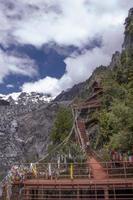 montagne enneigée de meili dans la province du yunnan, chine photo