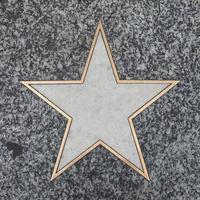 étoile vierge sur le trottoir photo
