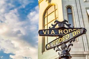 le célèbre rodeo drive à los angeles, en californie. photo
