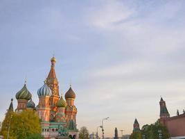 st. Basilic cathédrale sur la place rouge Moscou Kremlin, Russie photo