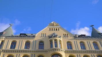 célèbre vue paysage de l'architecture la maison du chat dans la vieille ville de lettonie photo