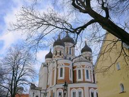 centre historique de la cathédrale saint alexandre nevski de tallinn, estonie photo