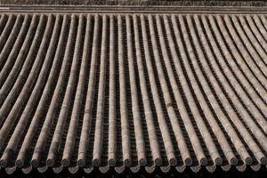 Toit de tuiles dans le musée des arts folkloriques de Tianshui Maison folklorique de hu shi, gansu chine photo