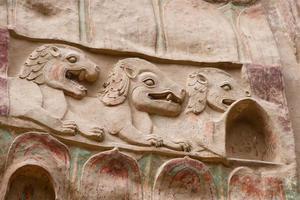 Soulagement de la grotte du temple la shao à tianshui wushan chine photo