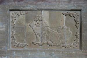 relief en pierre à tianshui wushan, gansu chine photo