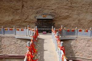 Pont de pierre du temple la shao à tianshui wushan chine photo