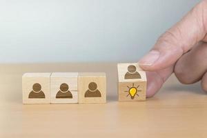 concept d'entreprise de gestion des ressources humaines et de recrutement photo