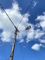 Voir la recherche d'un réverbère avec une lumière LED qui permet d'économiser de l'électricité photo
